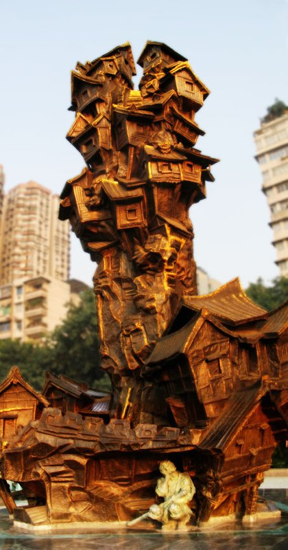 HYD Weird House Sculpture