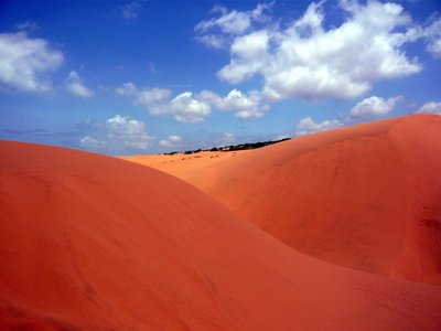 Blue Sky and Red Sanddunes