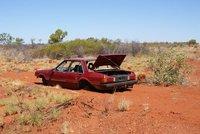 Autowrack im Outback