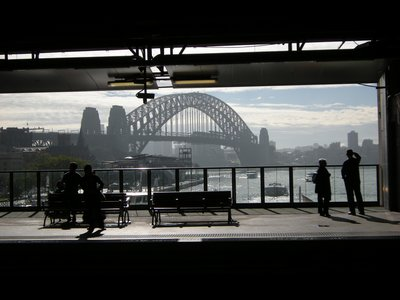 Harbour Bridge from Circular Quay Station