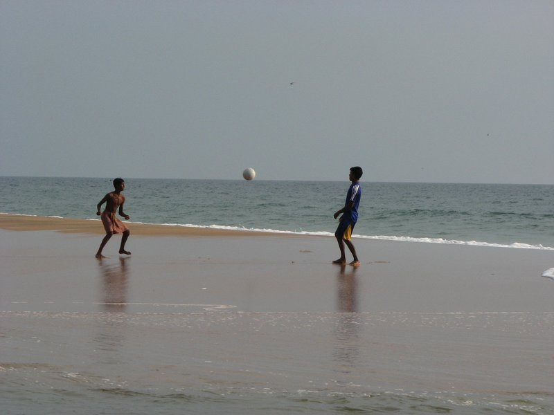 Football on the Poovar estuary