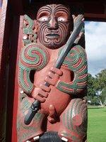 Maori carving at Waitangi
