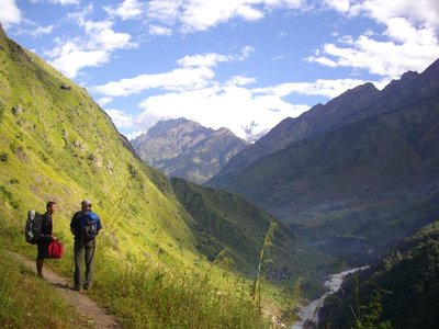 Manaslu - on the trail