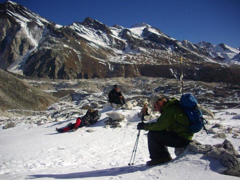 Manaslu - pooped on Larke La Pass