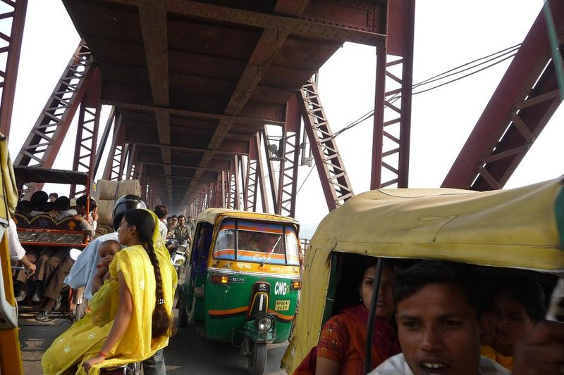 India - Agra - bridge crossing