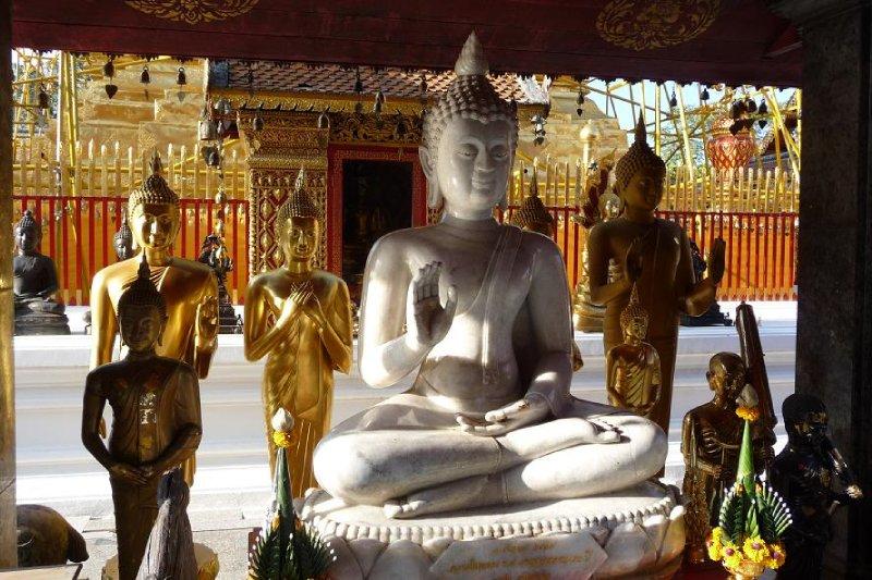 Thailand - Chiang Mai - Buddhas at Wat Phra