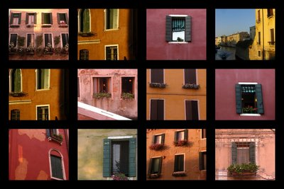 Windows in Venice Italy