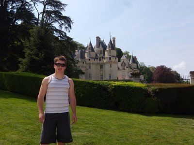me in front of ussé castle