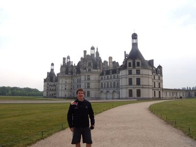 me in front chambord castle