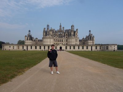 me in front of chambord castle