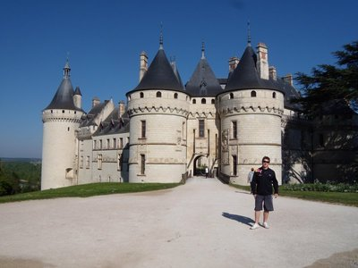 me in font of chaumont-sur-loire castle