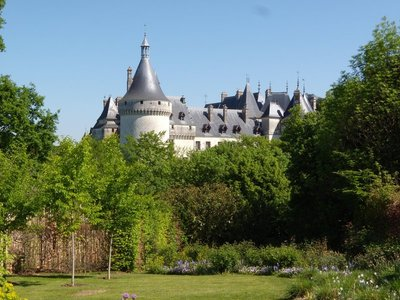view of chaumont-sur-loire castle from the castlegrounds splendid