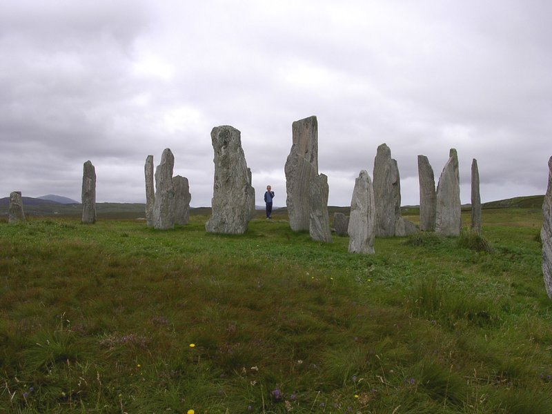 Standing stones at Callanish on Lewis