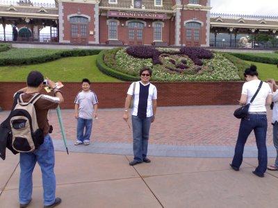 in front of Disney HK