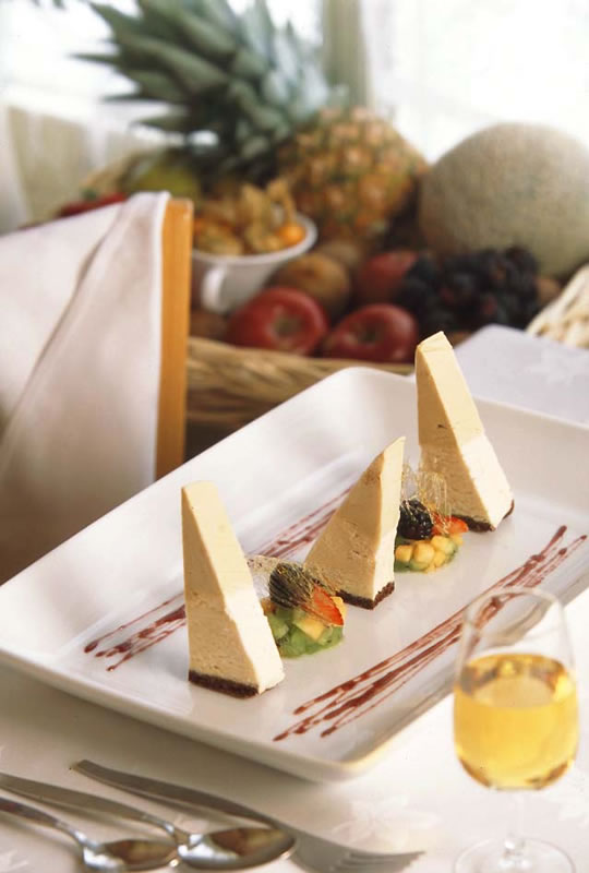 Auberge des Peupliers Triangle Glac au Mascarpone