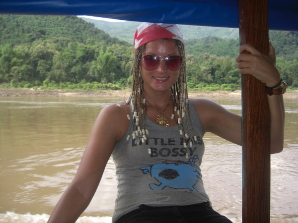 Chillin' on the slow boat down the Mekong