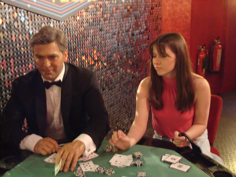 Me With Clooney at Madame Tussaudes