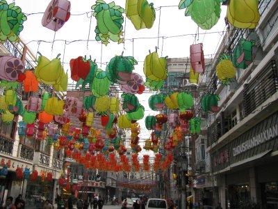 Old Town Lantern Hanging