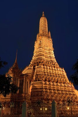 Temple of Dawn at night