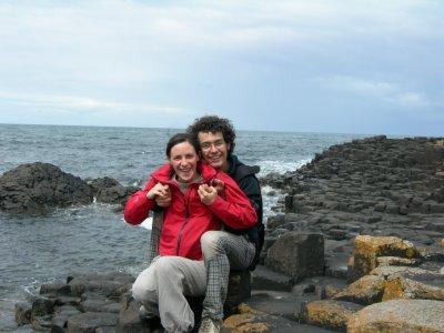 Enrico e Silvia sulla Giant's Causeway