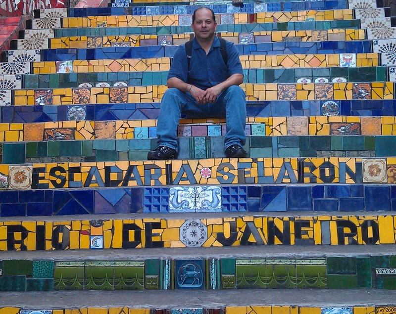 Escadaria Selaron,Rio De Janeiro,Brazil