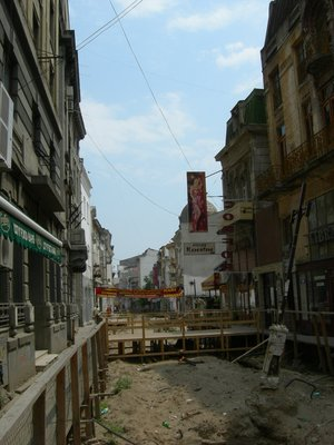 bucharest: dirt street