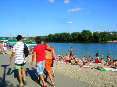 Belgrade: beach goers
