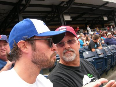 HOME: me and pops at the ball yard