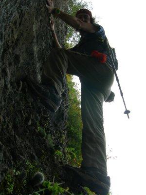 Climb: me coming down