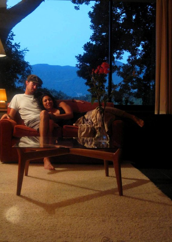 Pucon Antumalal: us on the couch