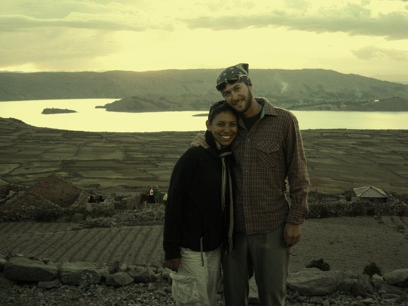 Puno- Amantani sunset couple