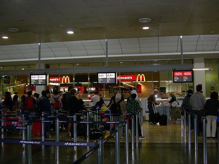 Check-in at Tullamarine Airport