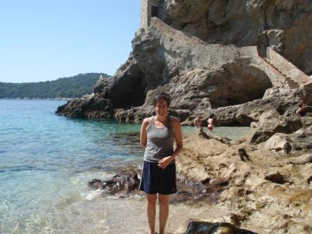 Erin at snorkeling beach