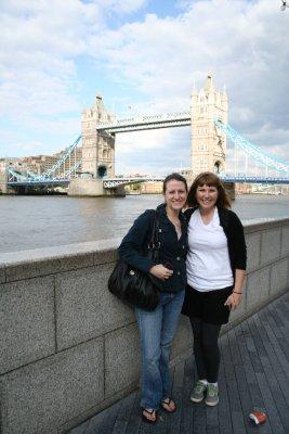 Tower Bridge + me + Kim