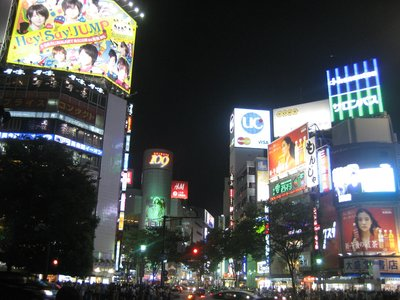 Bright lights of Shibuya