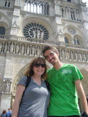 George and I at Notre Dame