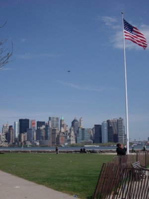 Manhattan Island from Ellis Island