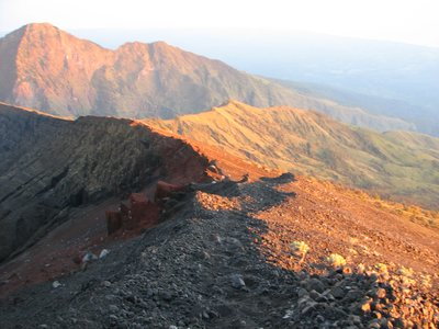 Rinjani ridge