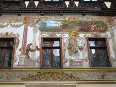 Peles Castle, external wall detail