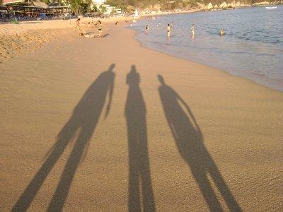 Long lanky shadows