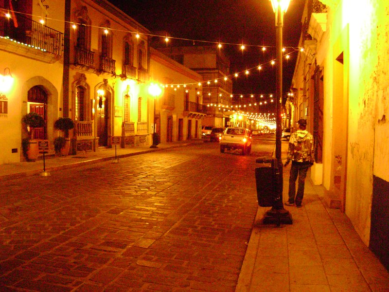 Night lights in Oaxaca