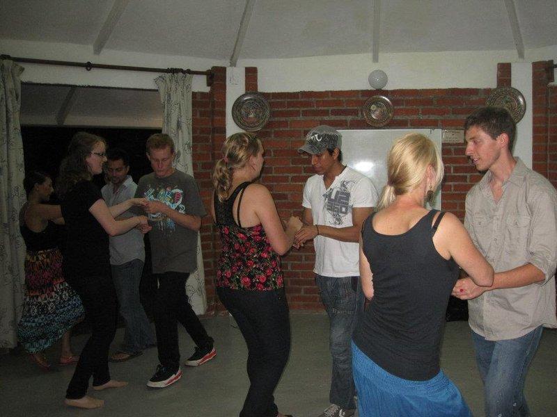 Volunteers Salsa Dancing