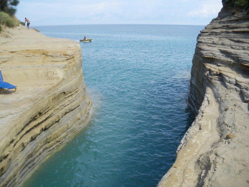 Canal d'amour Corfu island.