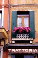 Floral Window Above Trattoria