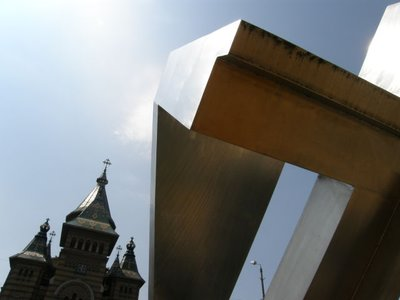 Cathdral and Symbol of Revolution, Timisoara