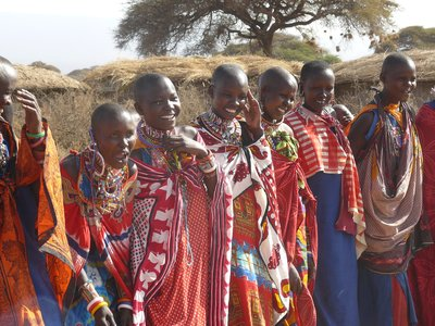 happy massai womens