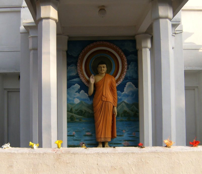 Buddha at International Buddhist Center, Wellewatta, Sri Lanka