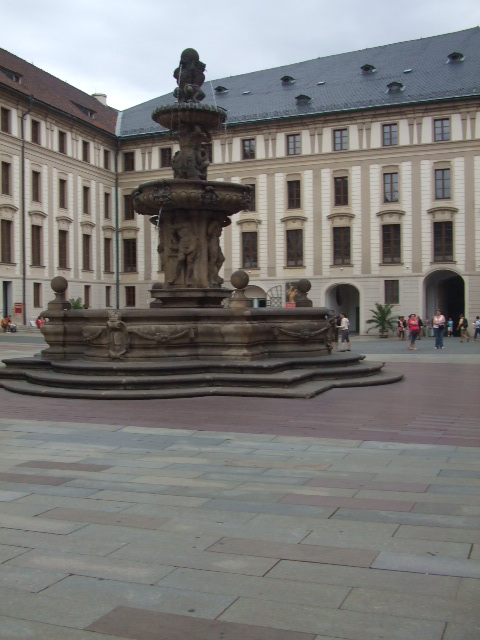 Prague Castle Fountain