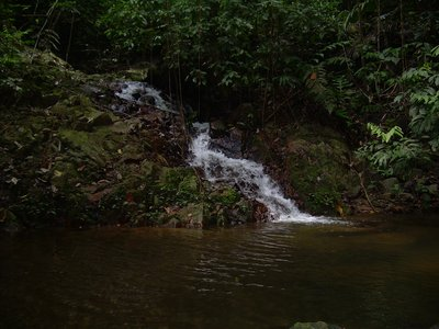 Waterfall on top of the highland of Kemahang