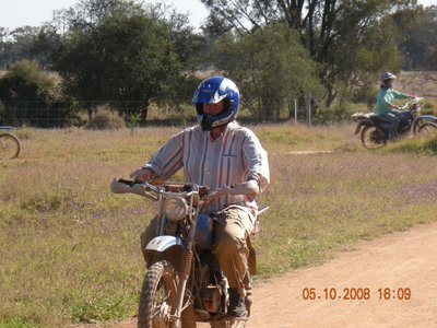 Benedicte on bike